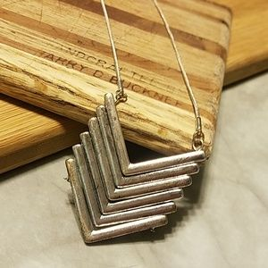 Jewelry - Chevron Silver Long Necklace